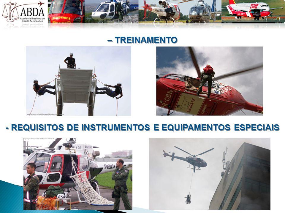 - REQUISITOS DE INSTRUMENTOS E EQUIPAMENTOS ESPECIAIS