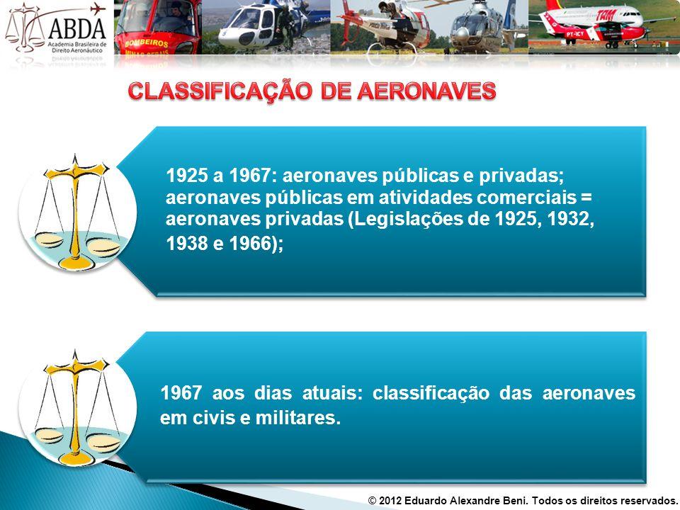 CLASSIFICAÇÃO DE AERONAVES
