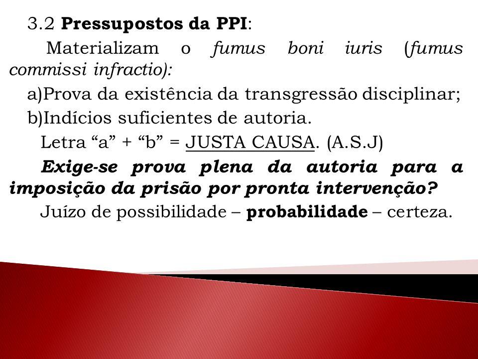 Materializam o fumus boni iuris (fumus commissi infractio):