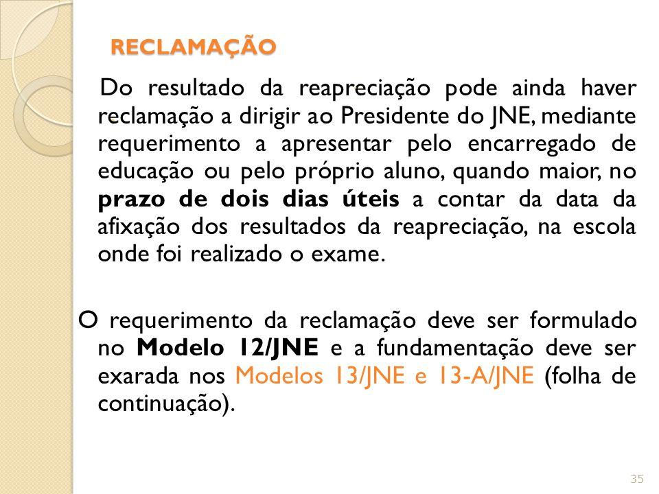 - RECLAMAÇÃO -