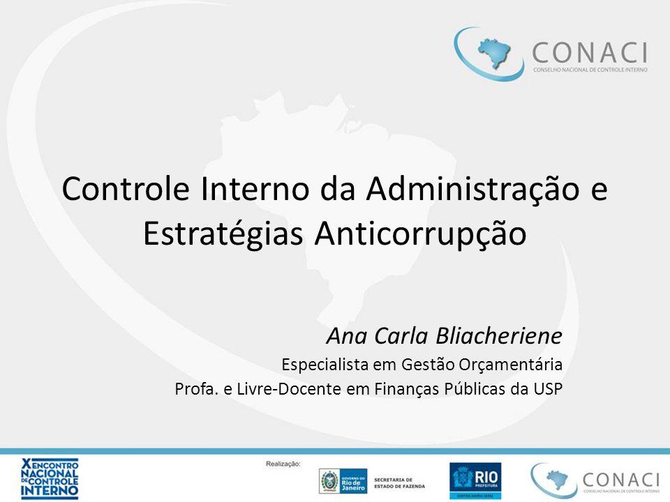 Controle Interno da Administração e Estratégias Anticorrupção
