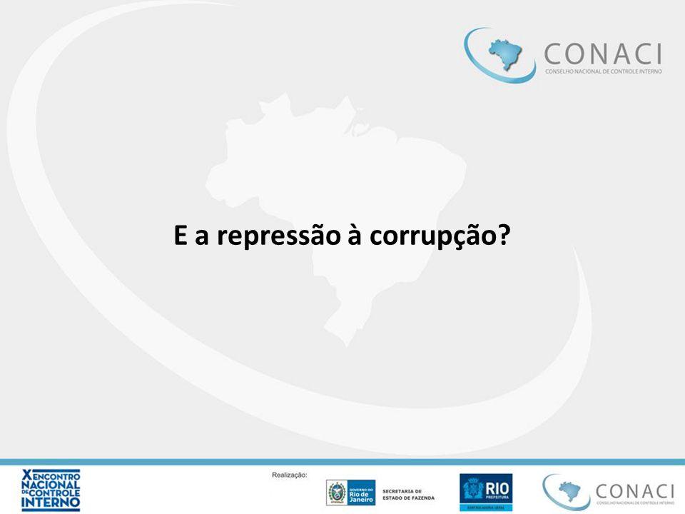 E a repressão à corrupção