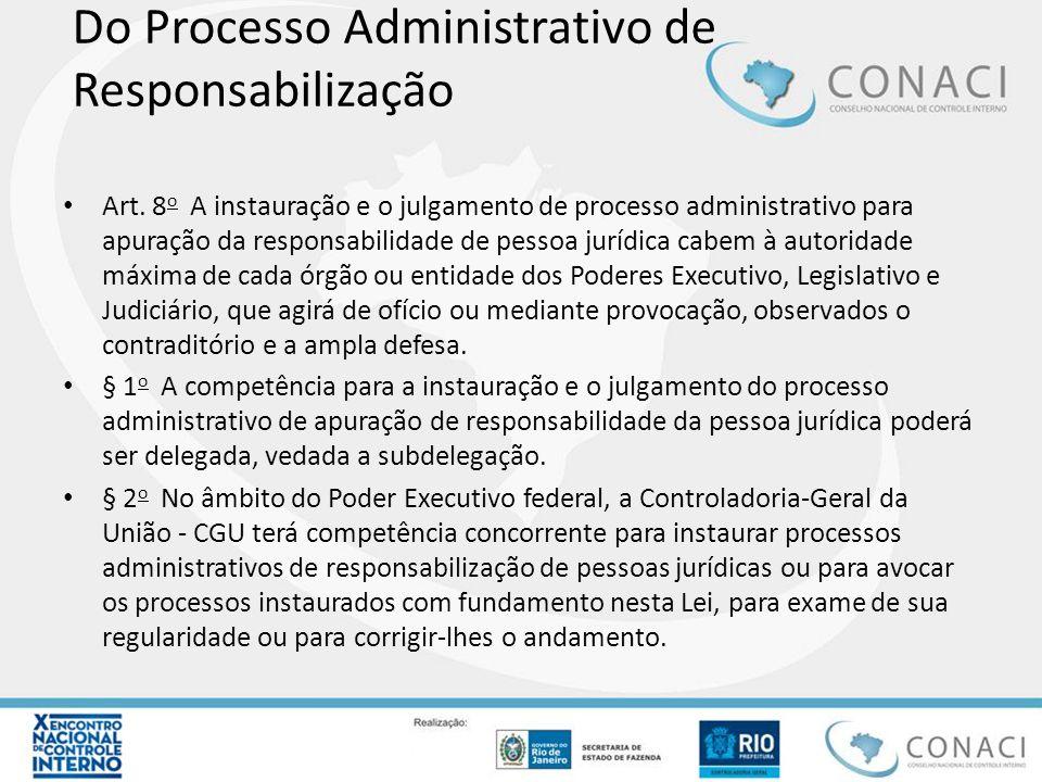 Do Processo Administrativo de Responsabilização