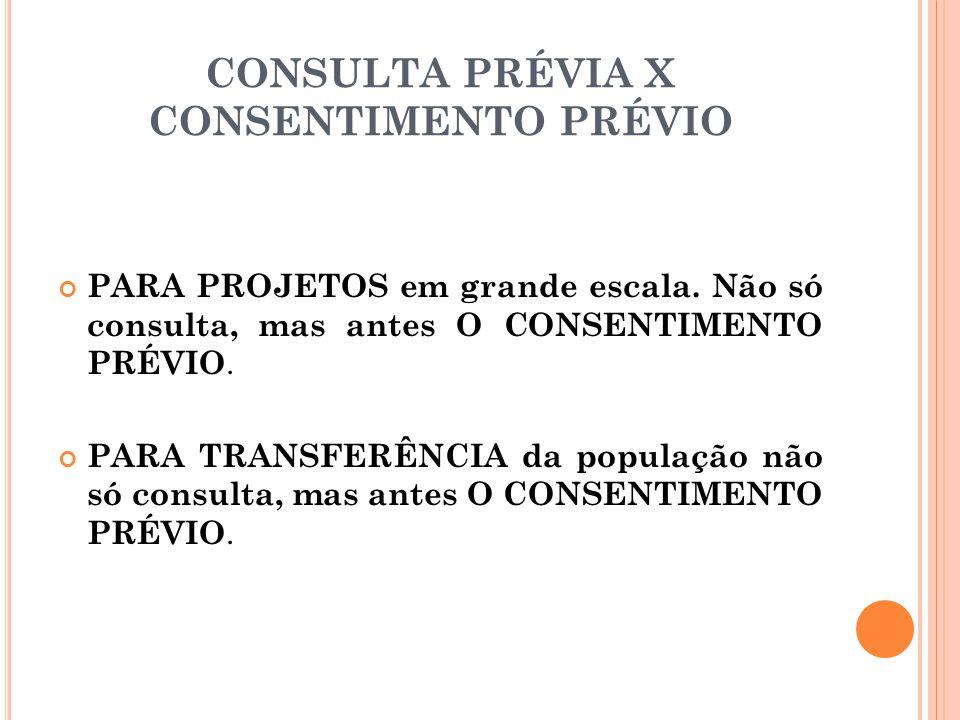 CONSULTA PRÉVIA X CONSENTIMENTO PRÉVIO
