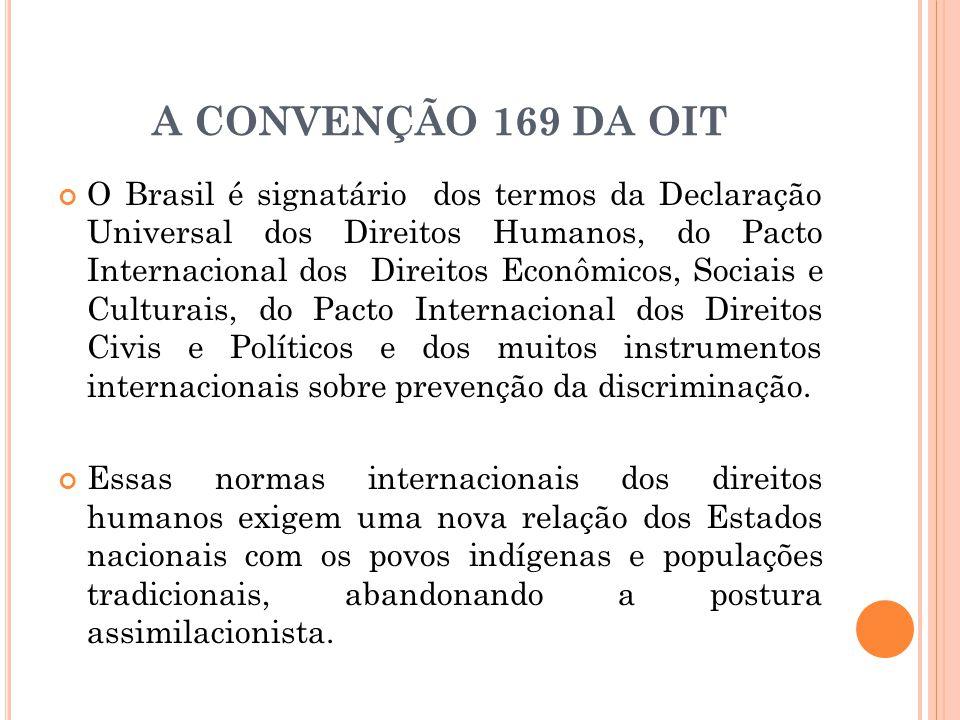 A CONVENÇÃO 169 DA OIT