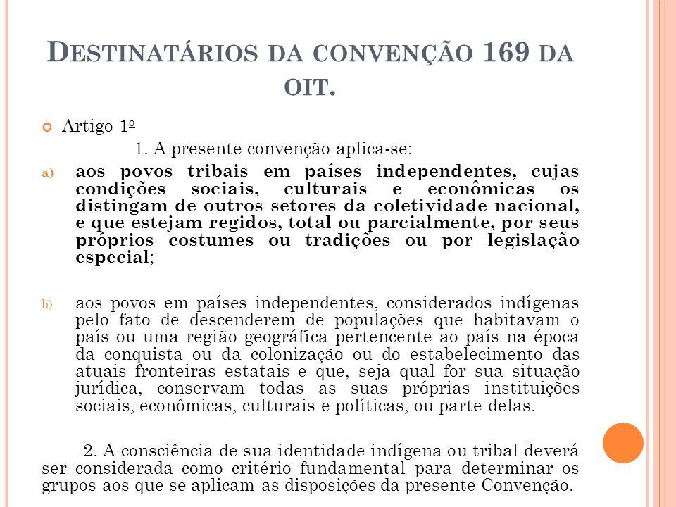 Destinatários da convenção 169 da oit.
