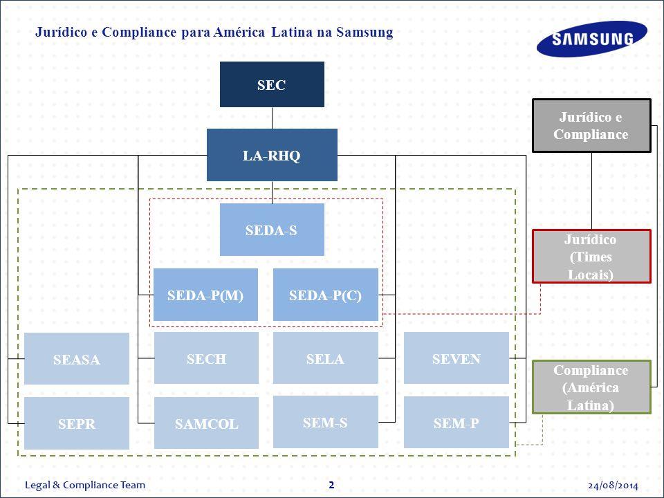Jurídico e Compliance para América Latina na Samsung
