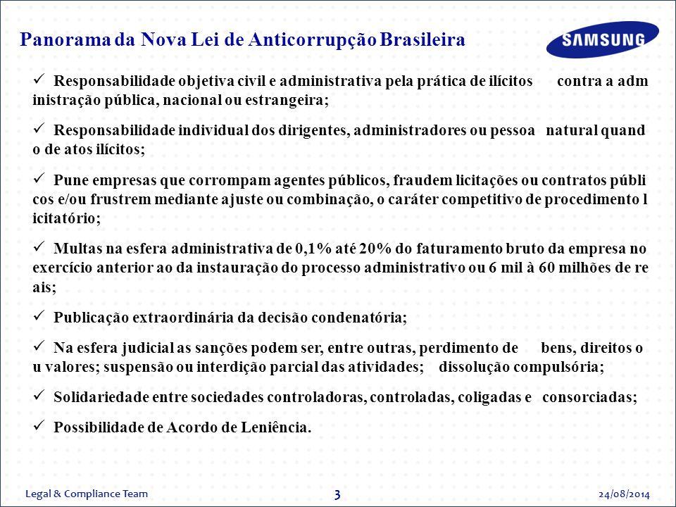 Panorama da Nova Lei de Anticorrupção Brasileira