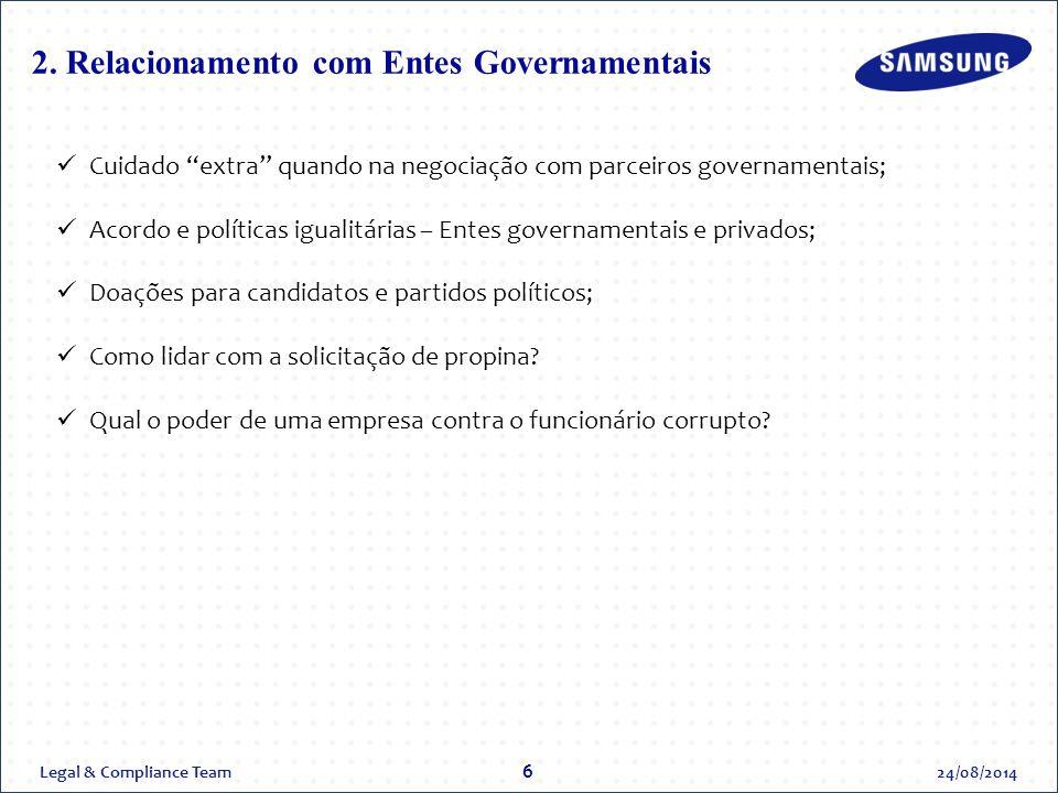 2. Relacionamento com Entes Governamentais