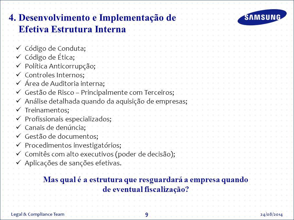 4. Desenvolvimento e Implementação de Efetiva Estrutura Interna