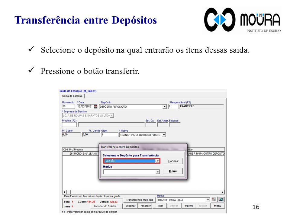 Transferência entre Depósitos