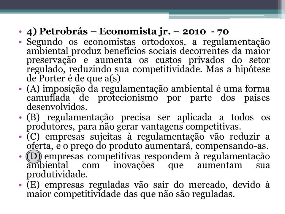 4) Petrobrás – Economista jr. – 2010 - 70