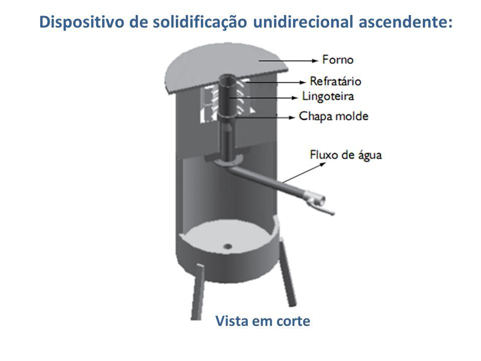 Dispositivo de solidificação unidirecional ascendente: