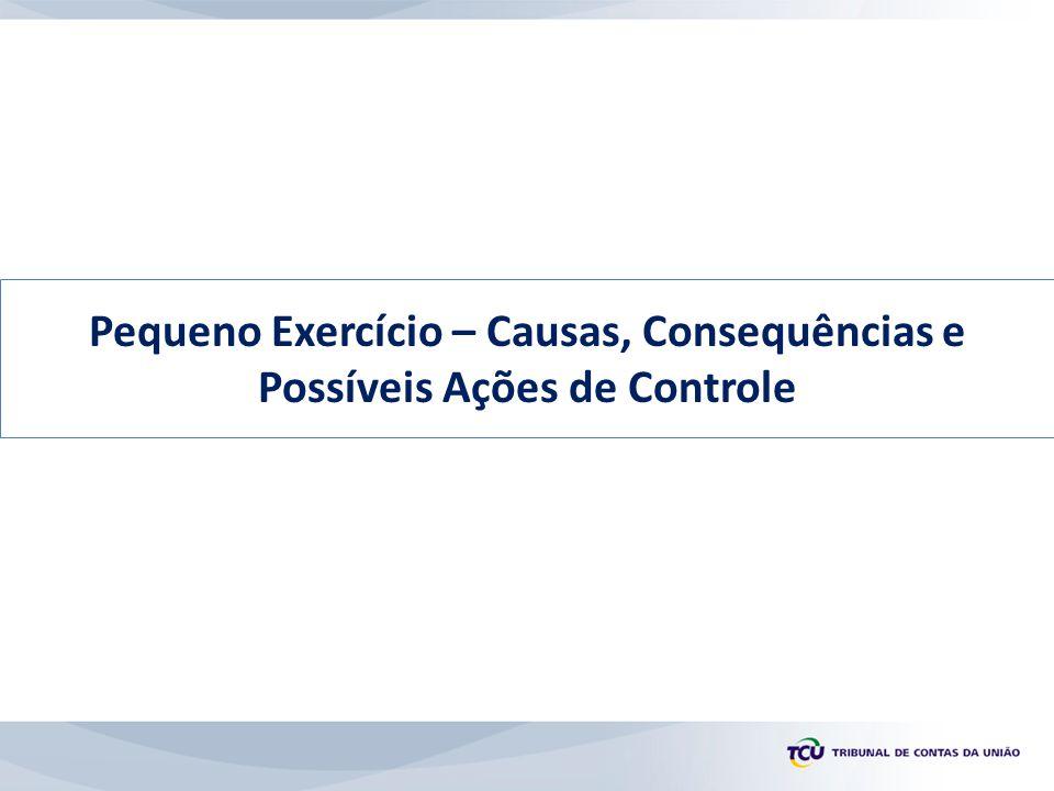 Pequeno Exercício – Causas, Consequências e Possíveis Ações de Controle