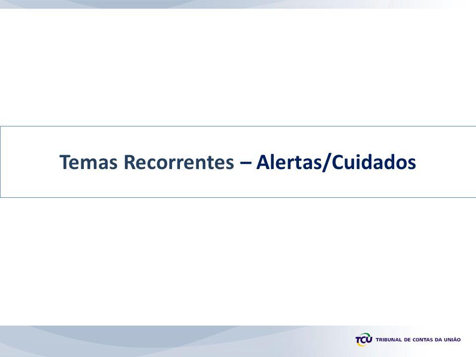 Temas Recorrentes – Alertas/Cuidados
