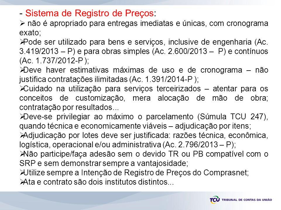 Sistema de Registro de Preços: