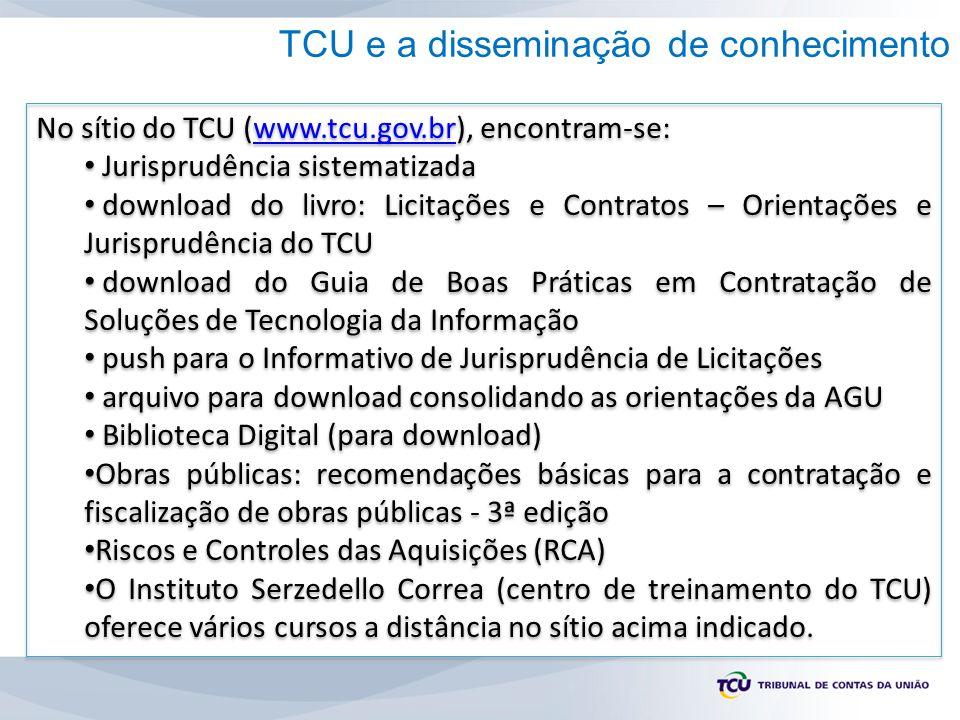 TCU e a disseminação de conhecimento