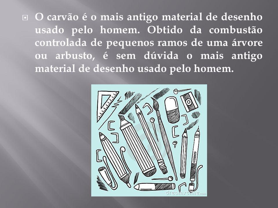 O carvão é o mais antigo material de desenho usado pelo homem