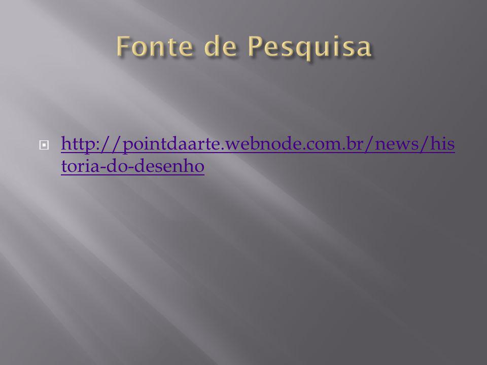 Fonte de Pesquisa http://pointdaarte.webnode.com.br/news/historia-do-desenho