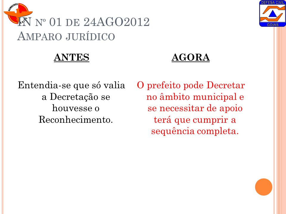 IN nº 01 de 24AGO2012 Amparo jurídico