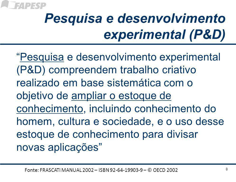 Pesquisa e desenvolvimento experimental (P&D)