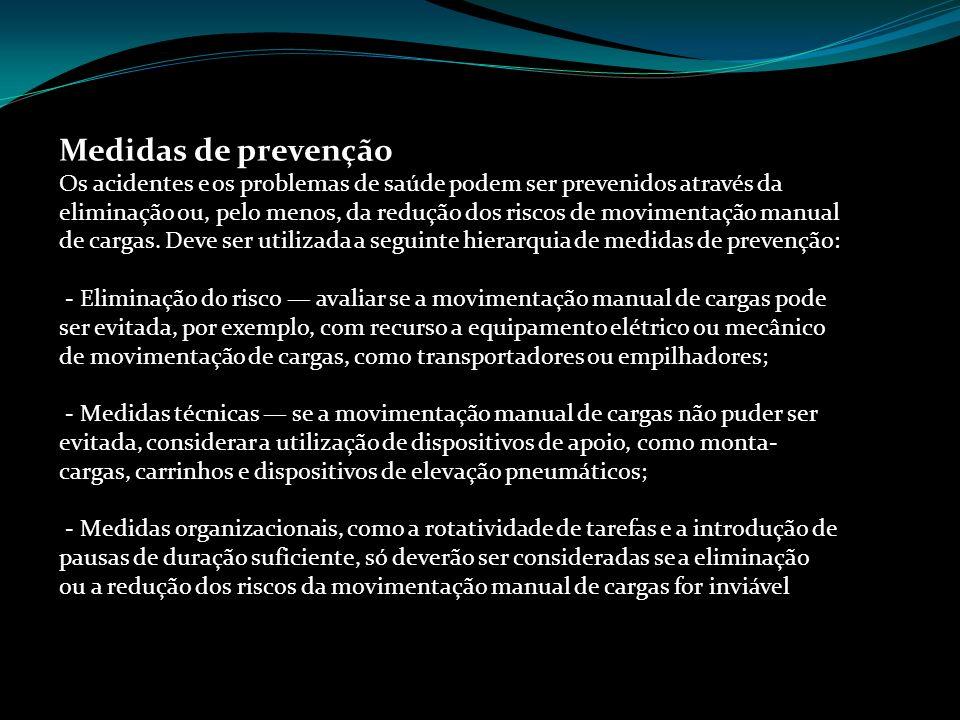Medidas de prevenção Prof. Sérgio Amaral