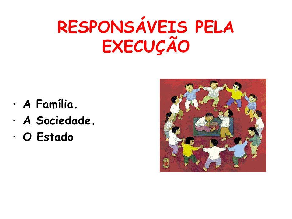 RESPONSÁVEIS PELA EXECUÇÃO