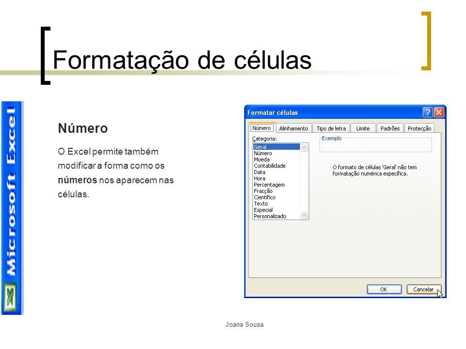 Formatação de células Número
