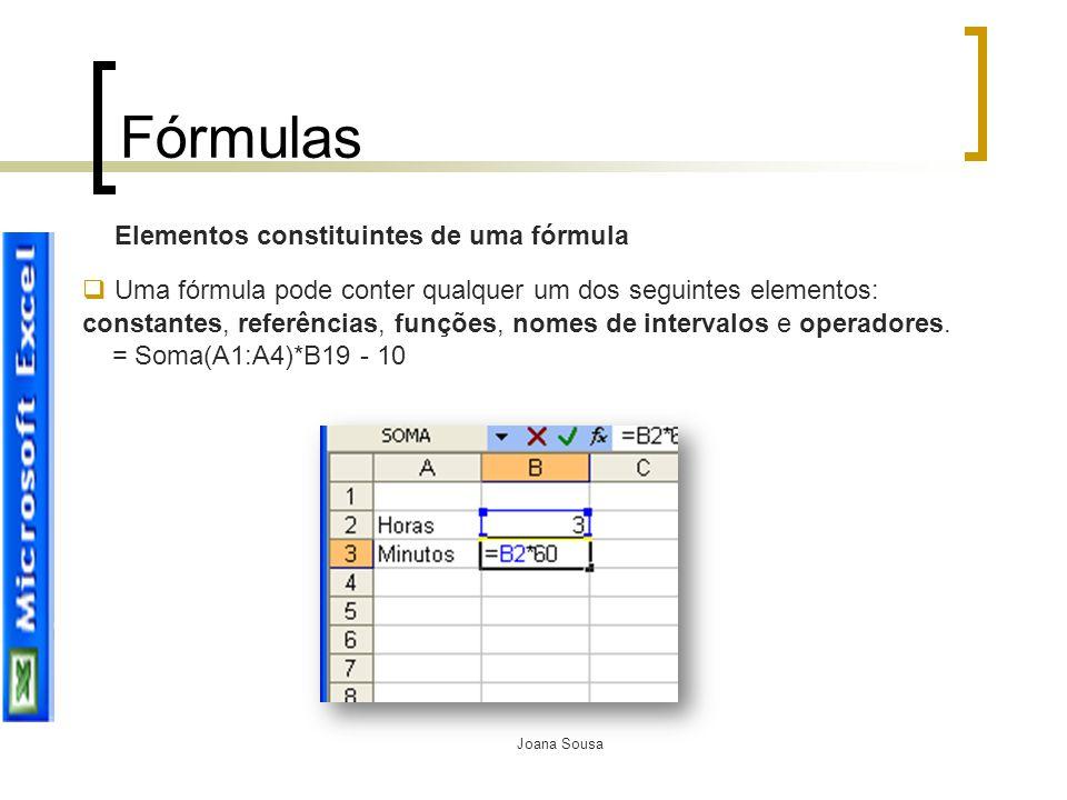 Fórmulas Elementos constituintes de uma fórmula