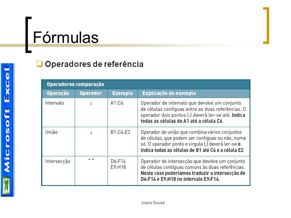 Fórmulas Operadores de referência Joana Sousa