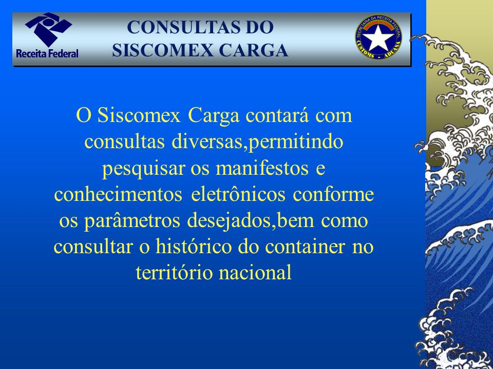 CONSULTAS DO SISCOMEX CARGA
