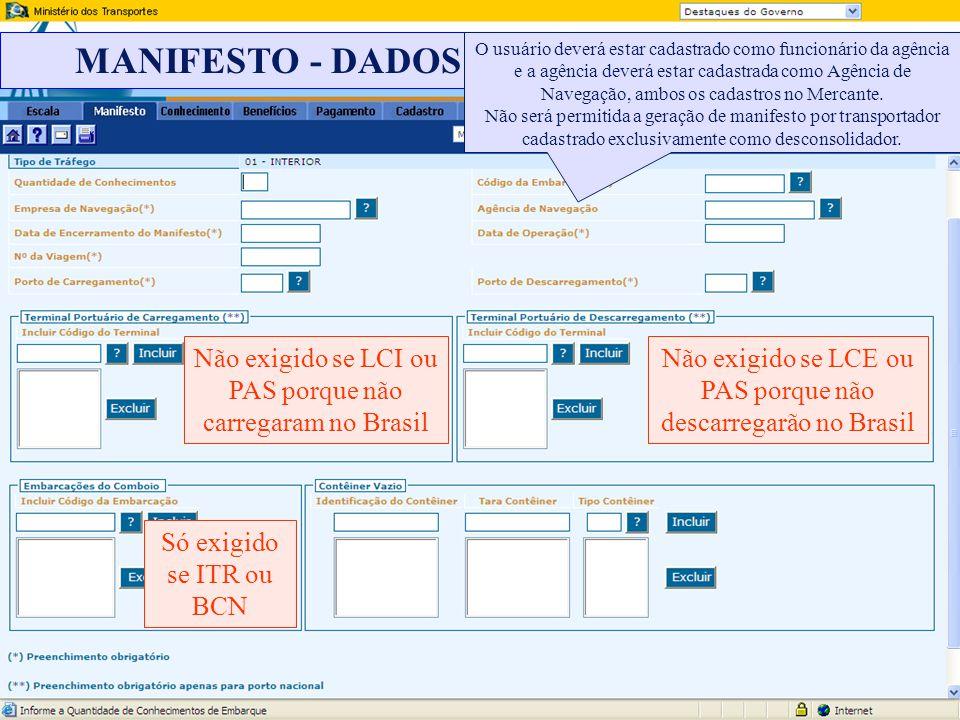 MANIFESTO - DADOS