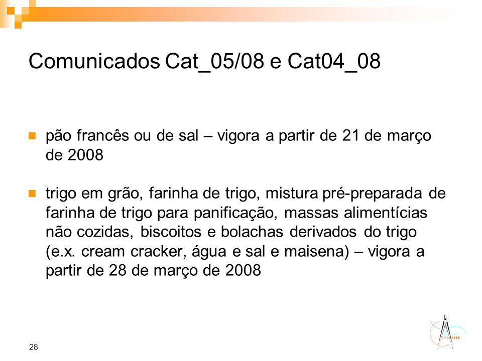 Comunicados Cat_05/08 e Cat04_08