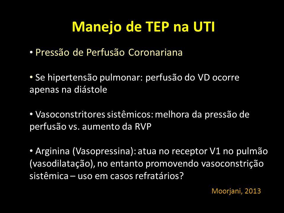 Manejo de TEP na UTI Pressão de Perfusão Coronariana