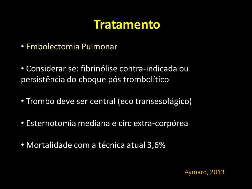 Tratamento Embolectomia Pulmonar