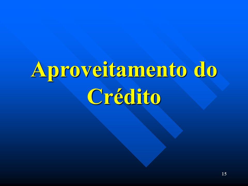 Aproveitamento do Crédito
