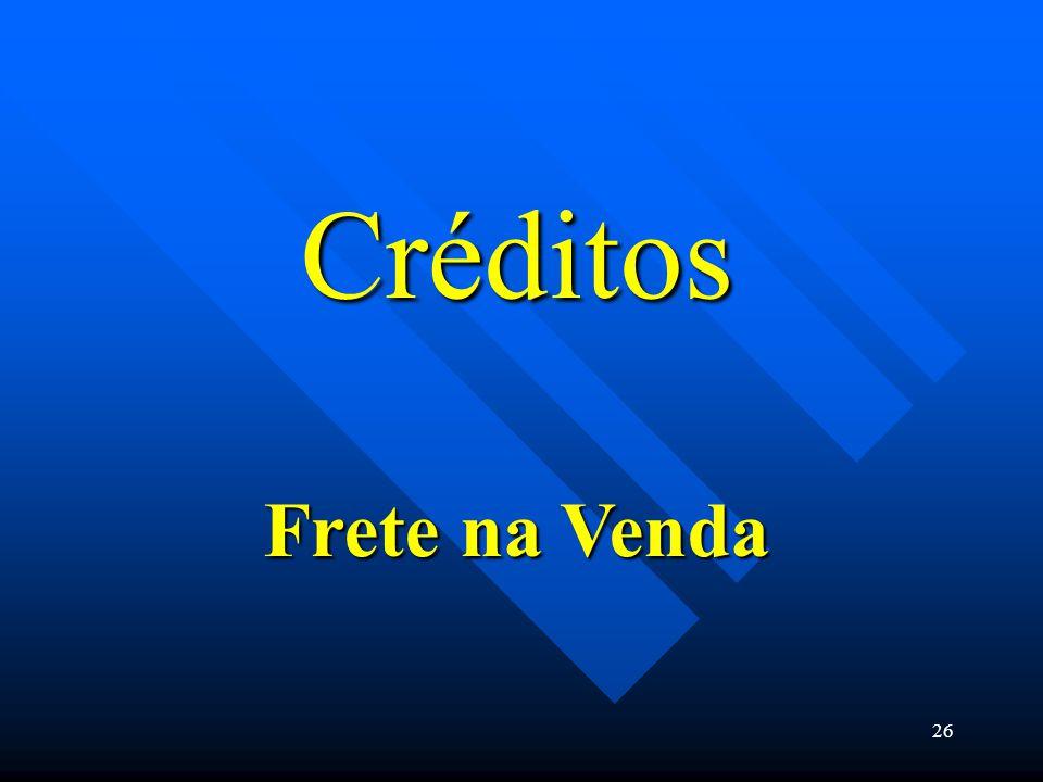 Créditos Frete na Venda