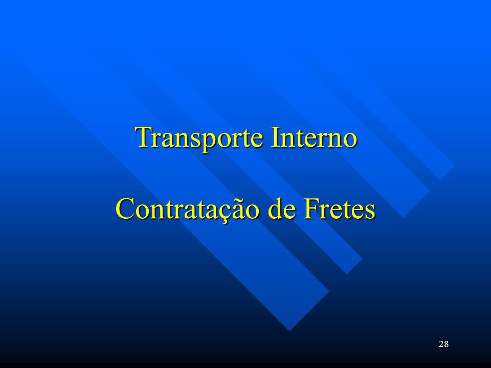Transporte Interno Contratação de Fretes