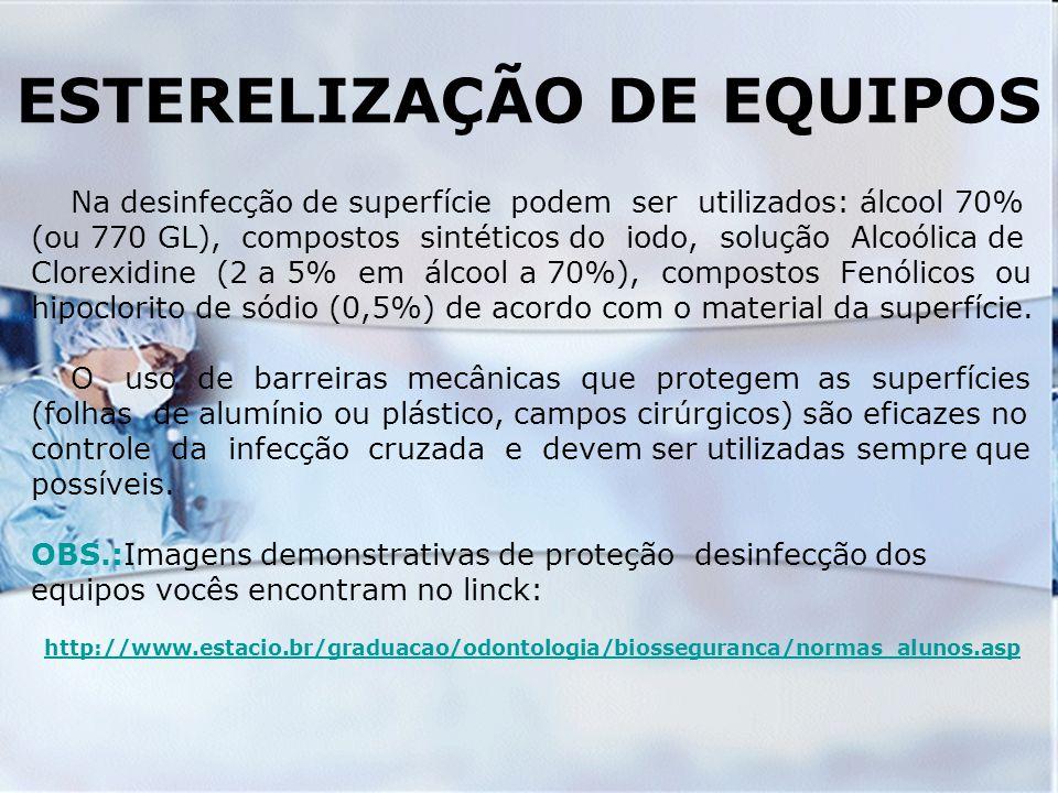 ESTERELIZAÇÃO DE EQUIPOS