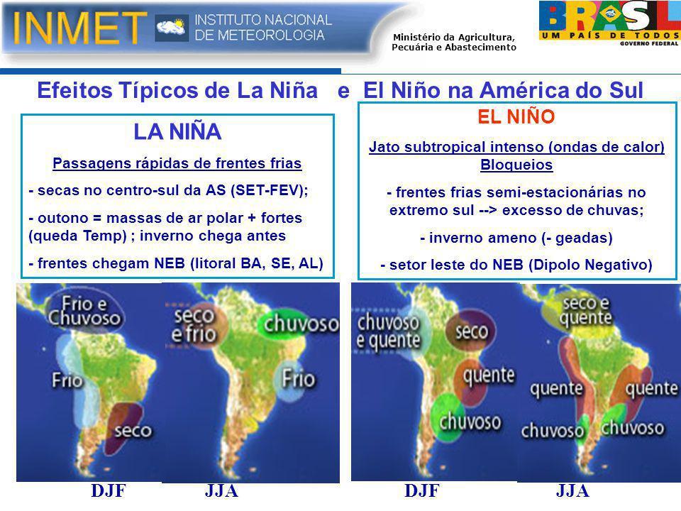 Efeitos Típicos de La Niña e El Niño na América do Sul LA NIÑA