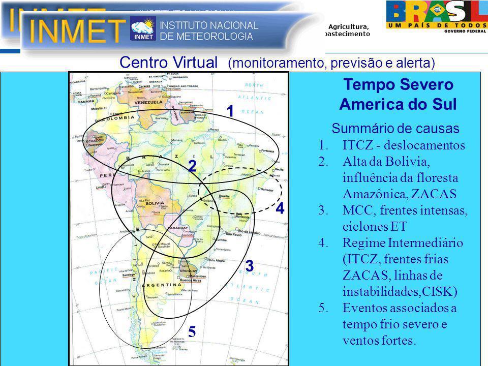 Tempo Severo America do Sul