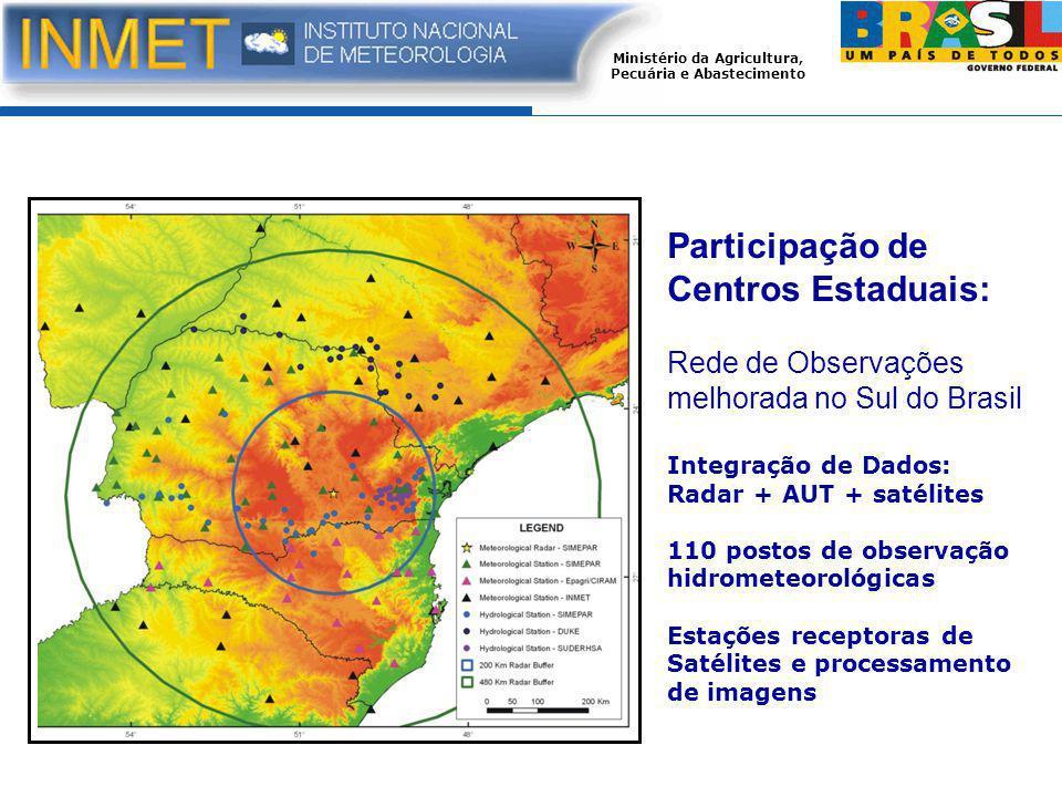 Participação de Centros Estaduais: