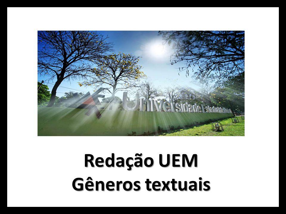 Redação UEM Gêneros textuais