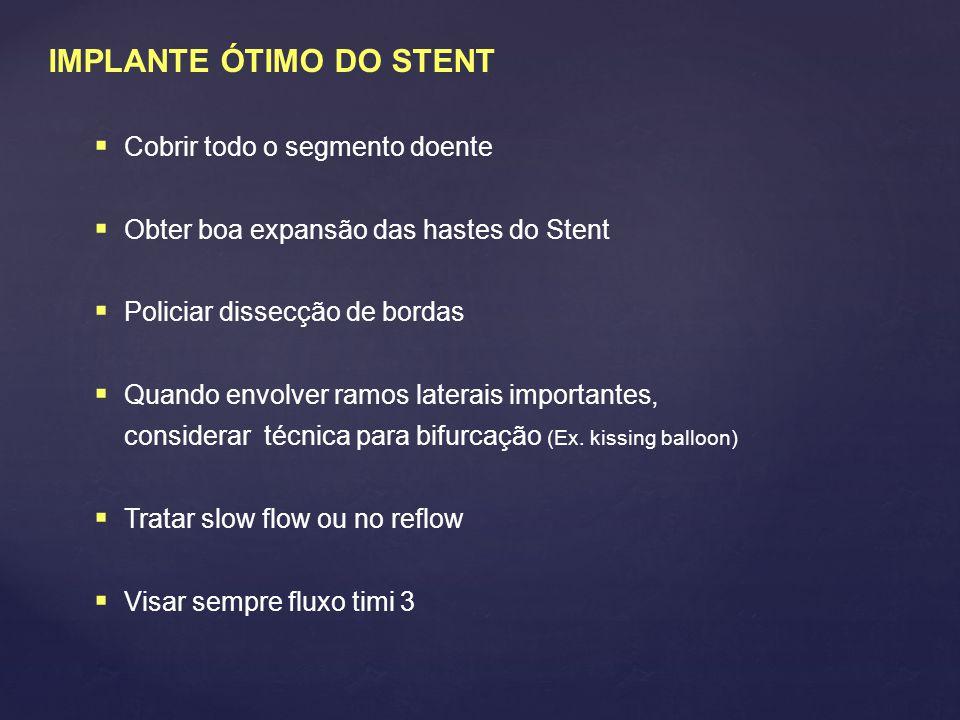 IMPLANTE ÓTIMO DO STENT