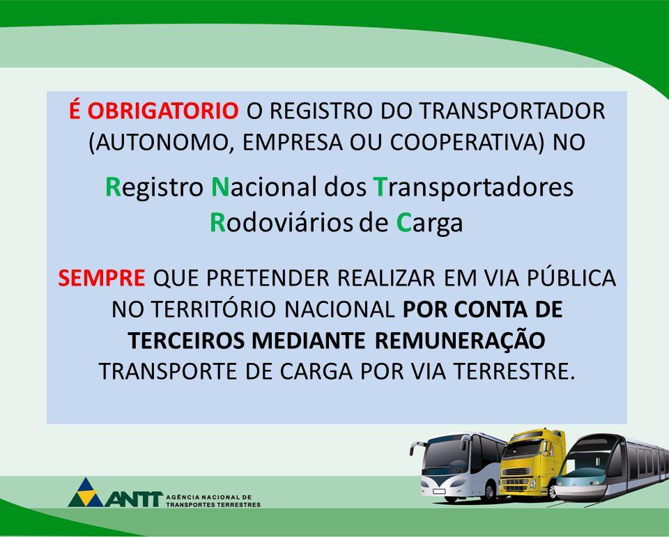 Registro Nacional dos Transportadores Rodoviários de Carga