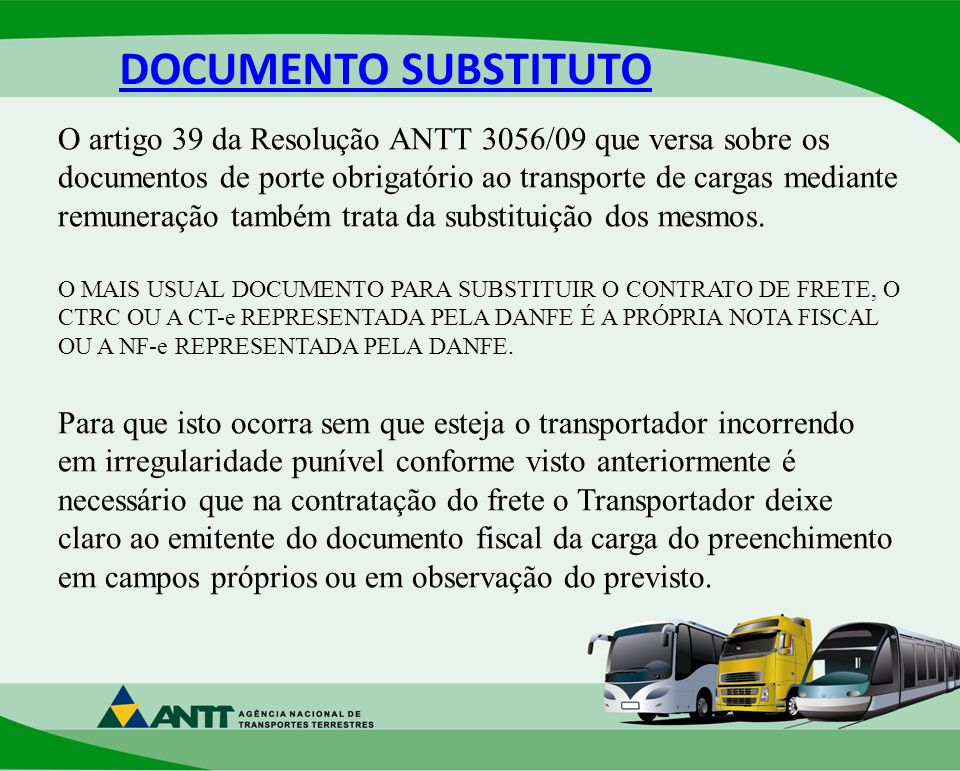 DOCUMENTO SUBSTITUTO