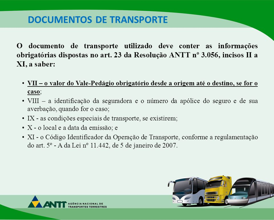 DOCUMENTOS DE TRANSPORTE