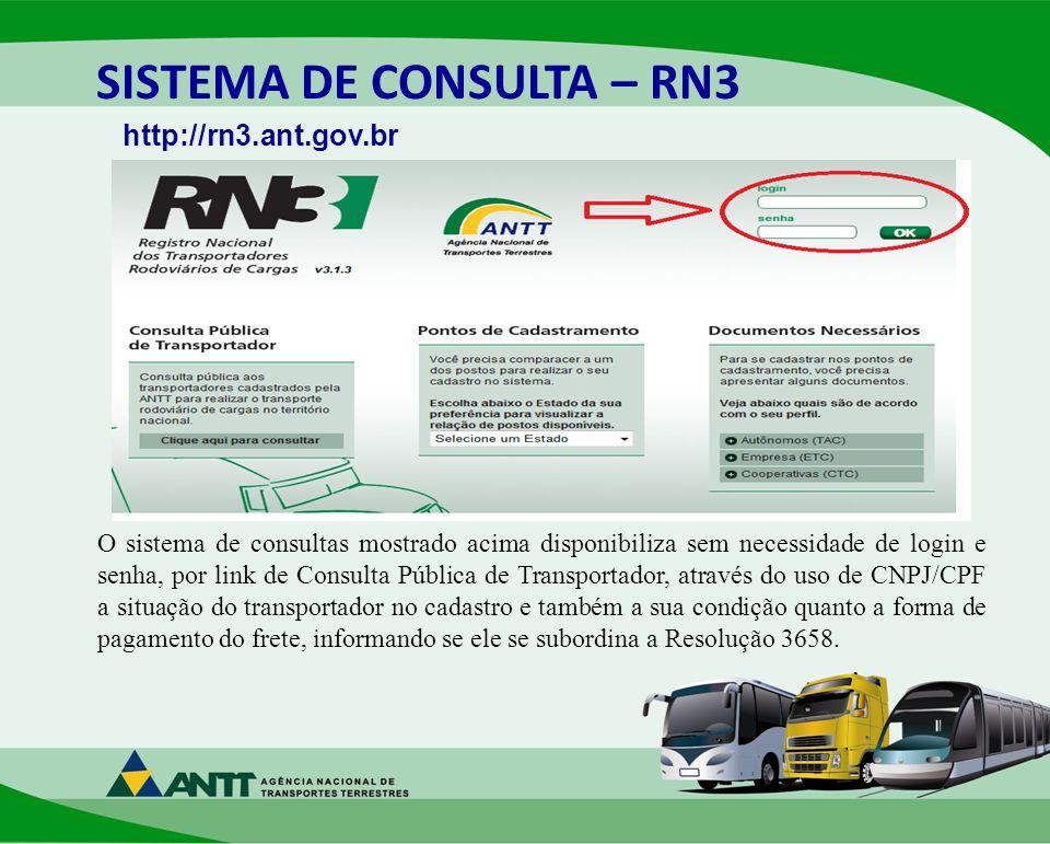 SISTEMA DE CONSULTA – RN3