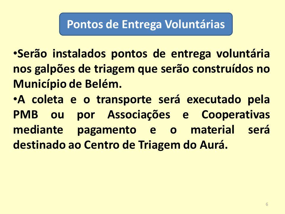 Pontos de Entrega Voluntárias