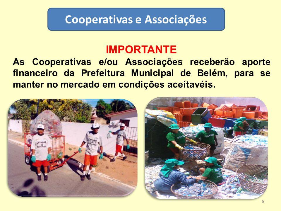 Cooperativas e Associações